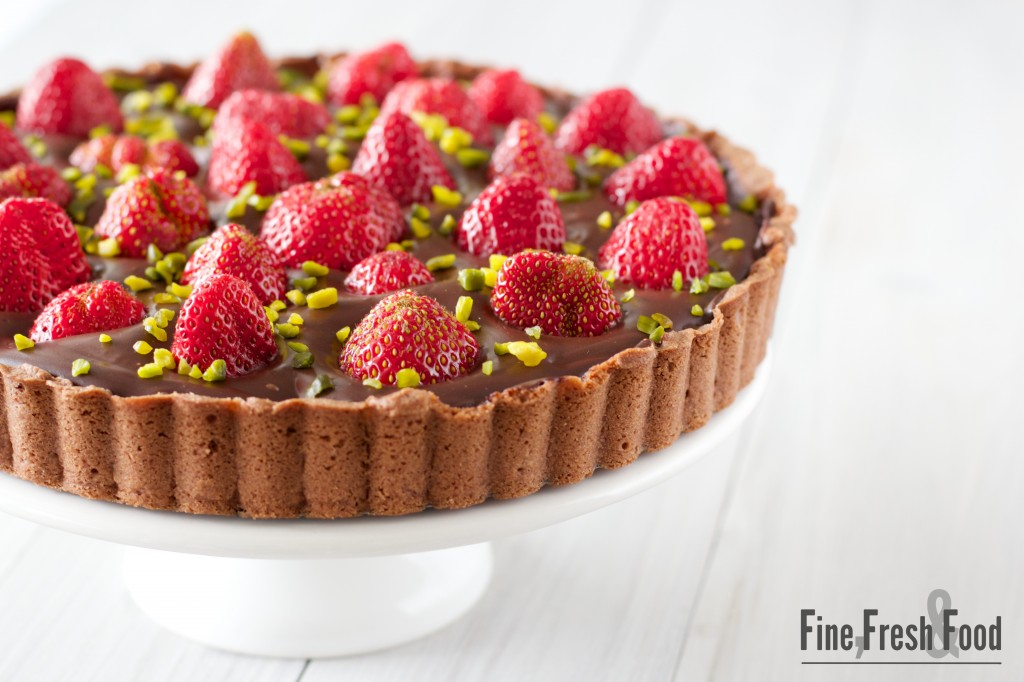 ... fruit. One of them is this tart with a wonderful ganache of dark